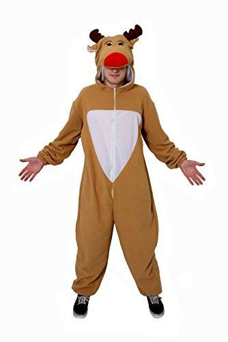 REINDEER COSTUME ADULTS CHRISTMAS FANCY DRESS ONESIE XMAS OUTFIT RUDOLPH SANTAu0027S HELPER RUDOLF REINDEER   sc 1 st  Pinterest & REINDEER COSTUME ADULTS CHRISTMAS FANCY DRESS ONESIE XMAS OUTFIT ...