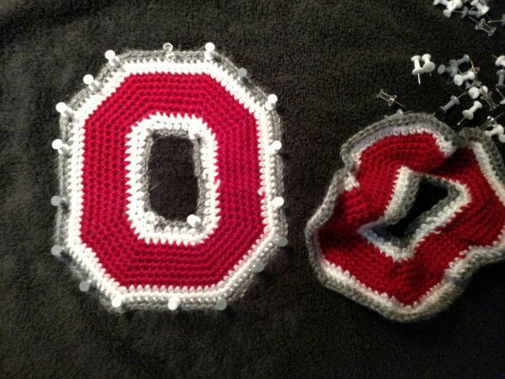 Crochet Pattern - Pattern for Ohio State Inspired Crochet Block O ...