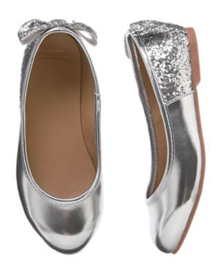d585fa77565e Girls Silver Glitter Ballet Flats by Gymboree. Gymboree Girl - Everyday  Dress-Up 8 10 15