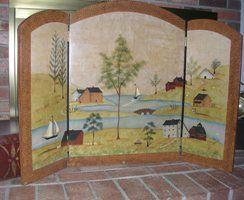wooden fireplace screen. FireScreen2 jpg  244 200 Pinterest Folk art