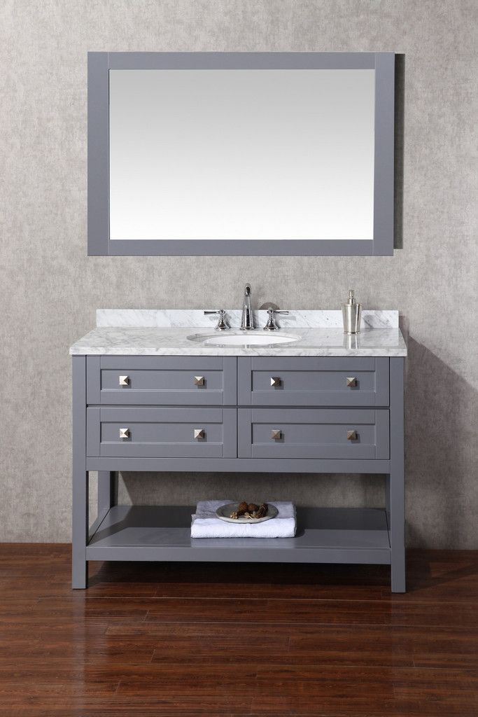 Marla 48 Inch Single Sink Bathroom Vanity With Mirror Single