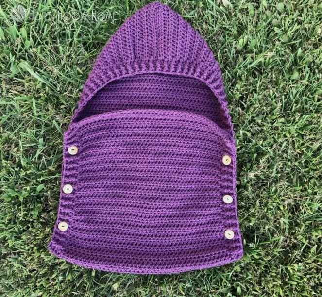 Newborn Sleep Sack Free Crochet Pattern | Tejido, Tejido en crochet ...