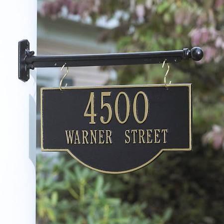 Hanging Address Sign Bracket Google Search Address Plaque Whitehall Address Sign