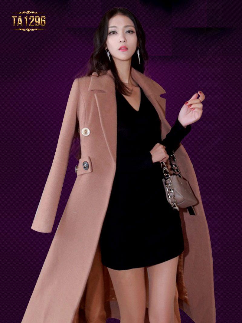 Áo khoác dạ nữ Hàn Quốc cao cấp cho nàng công sở đẹp mê mẩn