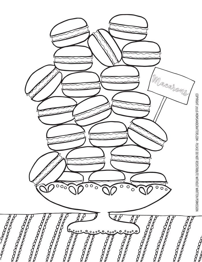 Macarons Coloring Page Download Coloring Pages Food Coloring Pages Diy Crafts For School