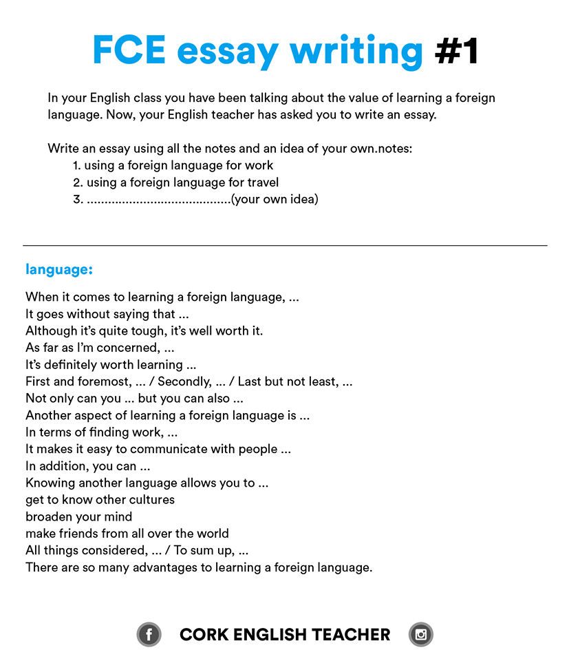 fce exam essay examples ingles blog essay fce exam essay examples english classesenglish examlearn