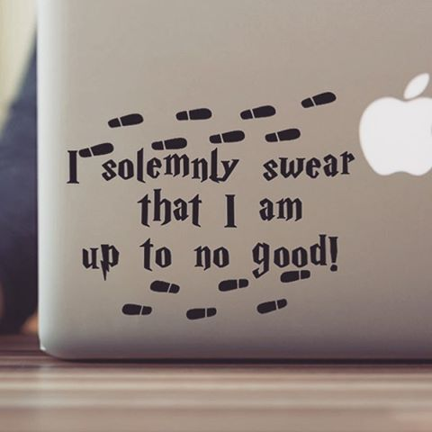 Our Harry Potter decals are perfect for your laptops and tumblers! This is one of my personal favorites. 😍#harrypotter #harrypotterfan #geek #marauders #macbook