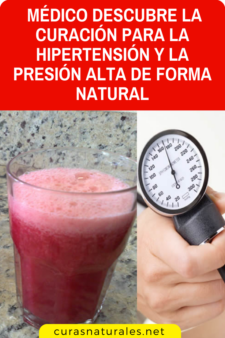 Remedios naturales para bajar la presion alta