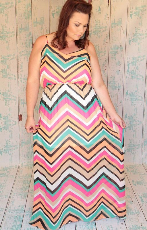 One of my favorite dresses yo wear! Rainbows of Chevron Maxi - Be Inspired Boutique #inspiredbyyou