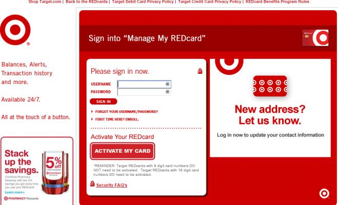PAY TARGET RED CARD BILLS ONLINE – 4 QUICK METHODS
