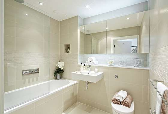 Tiled Bathroom Half Wall bathroom half tiled wall height how high - google search