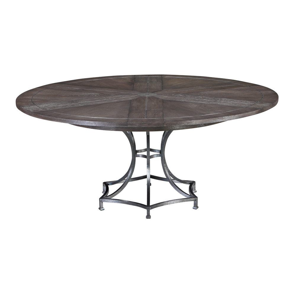 84 Inch Round Contemporary Jupe Table With Metal Base Metal Table Base Table Dining Table