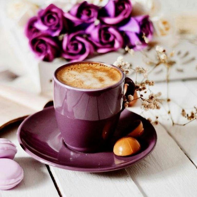 Картинки с добрым утром с кофе и пирожными с надписью мужчине