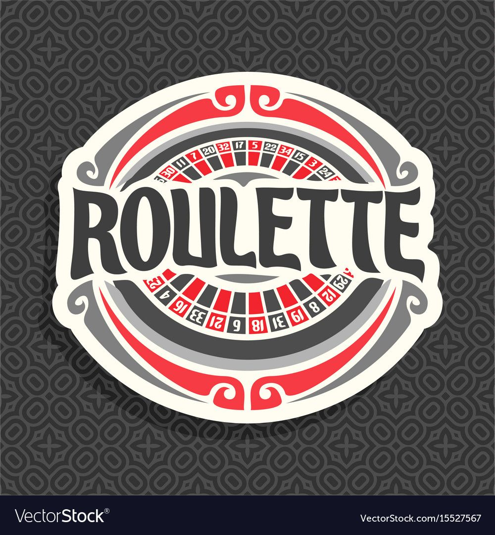 Logo for roulette Royalty Free Vector Image VectorStock