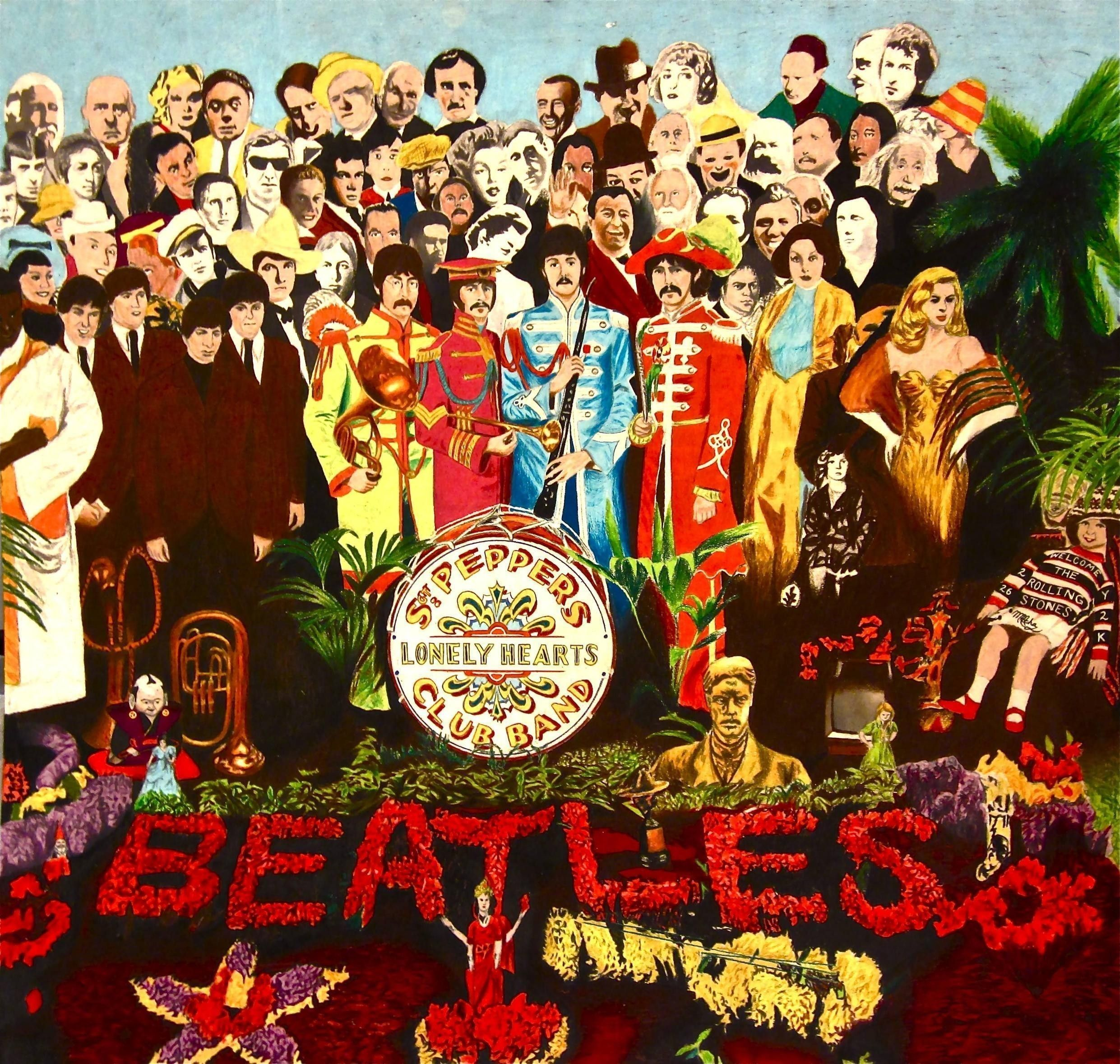 Обои The beatles, sgt. peppers lonely hearts club band, yellow submarine. Музыка foto 9