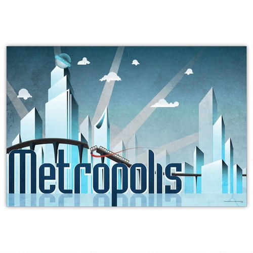 Superman Travel Poster