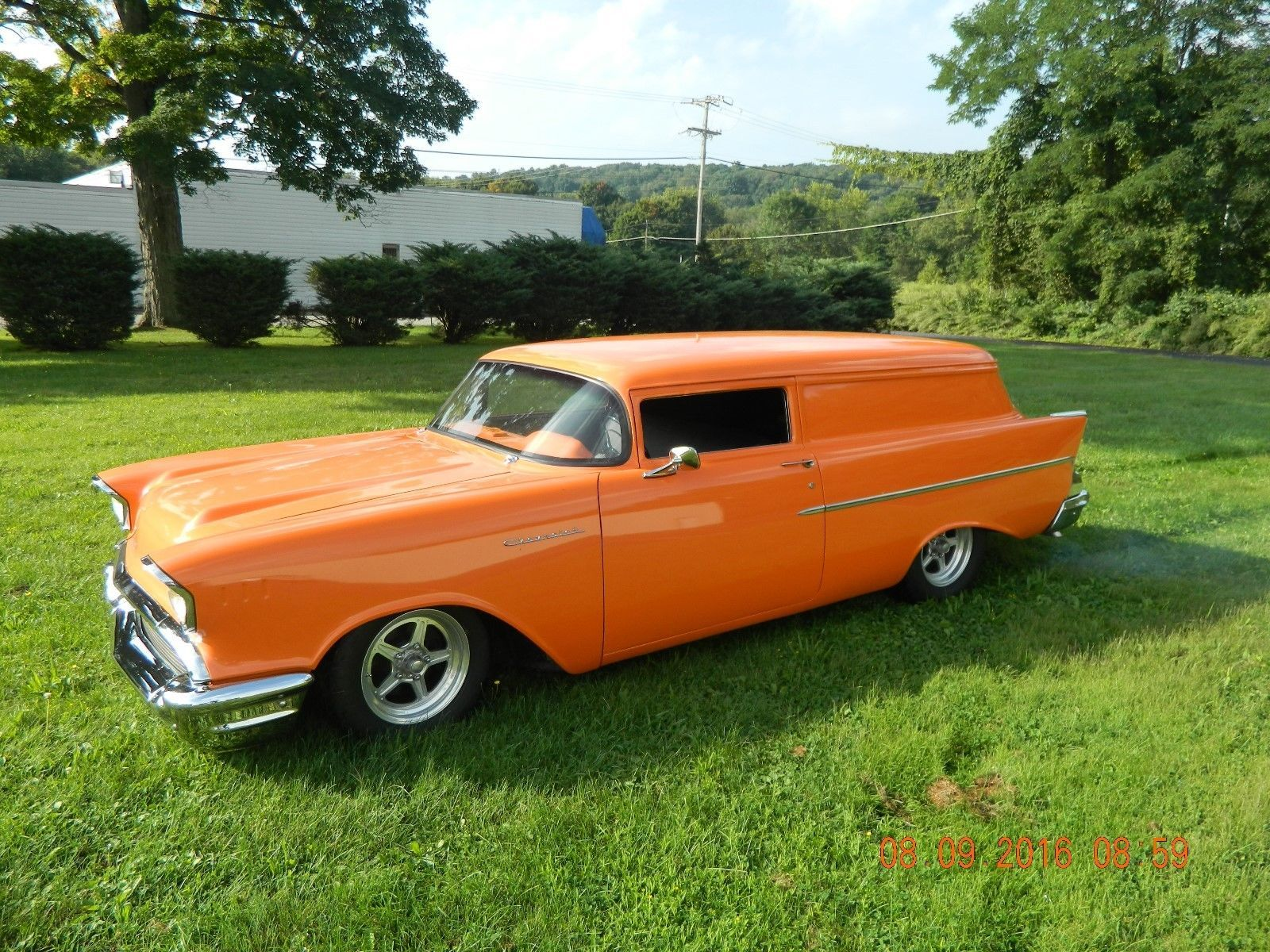 57 Chevy Chopped Sedan Delivery Chevrolet Sedan Custom Cars For