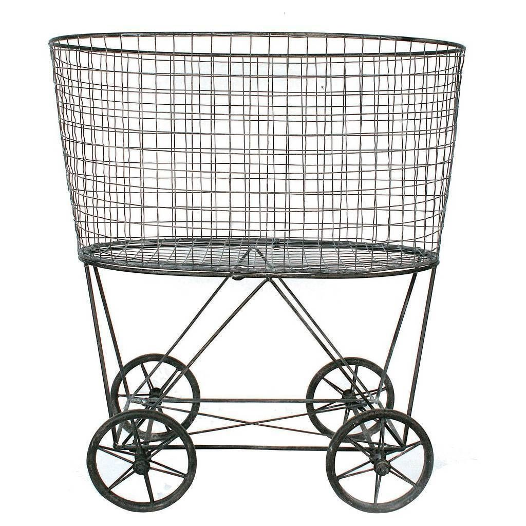 Laundry Room Laundry Carts On Wheels With Regard To
