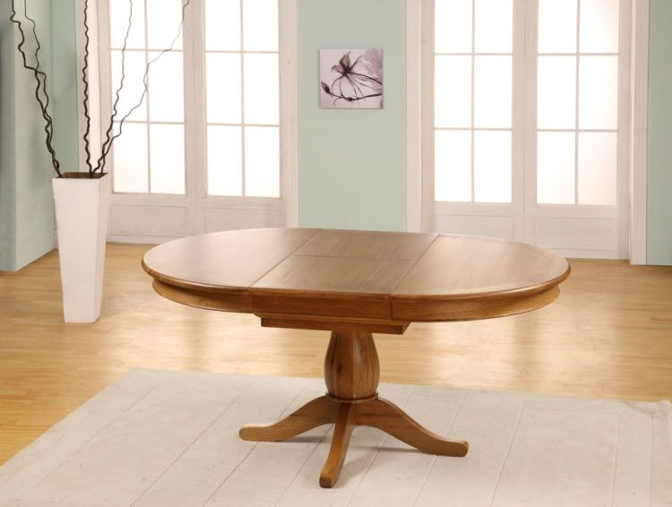Cau Oak Round To Oval Extending Dining Table 1150 1650mm