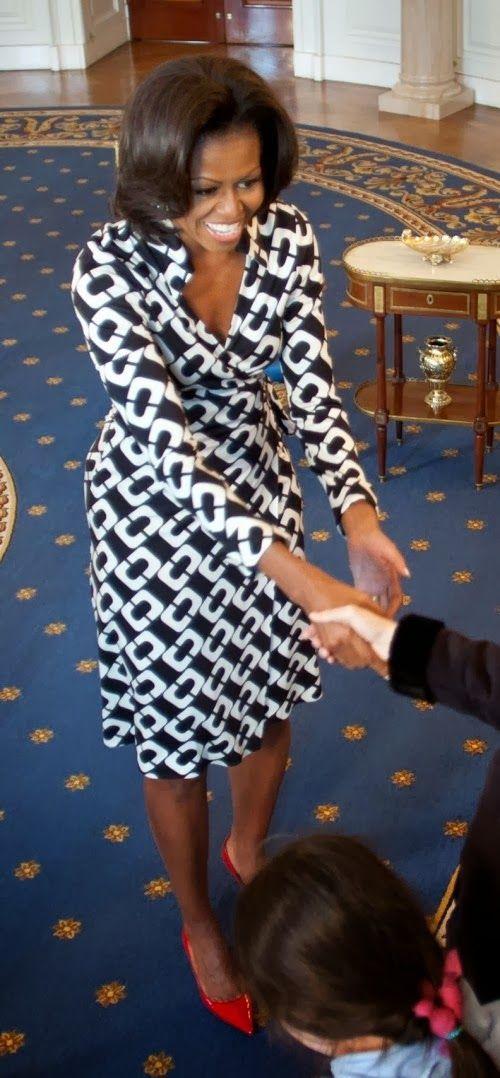 Dvf Jeanne Wrap Dress Chain Link Large Michelle