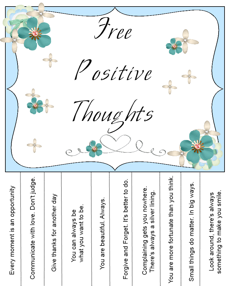 Sweetly Scrapped: Free printable positive thoughts ...