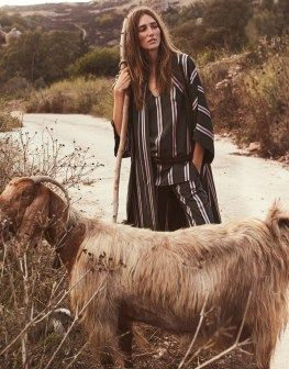 Josephine le Tutour heads to the great outdoors for the January 5th, 2017 cover of The Edit from Net-a-Porter. Photographed by Stefano Galuzzi, the French beauty poses in the foothills of Cyprus. Spotlighting nomadic style, Josephine is a bohemian queen wearing everything from capes to knit sweaters. The 22-year-old shines in the sun-drenched shots. Stylist …