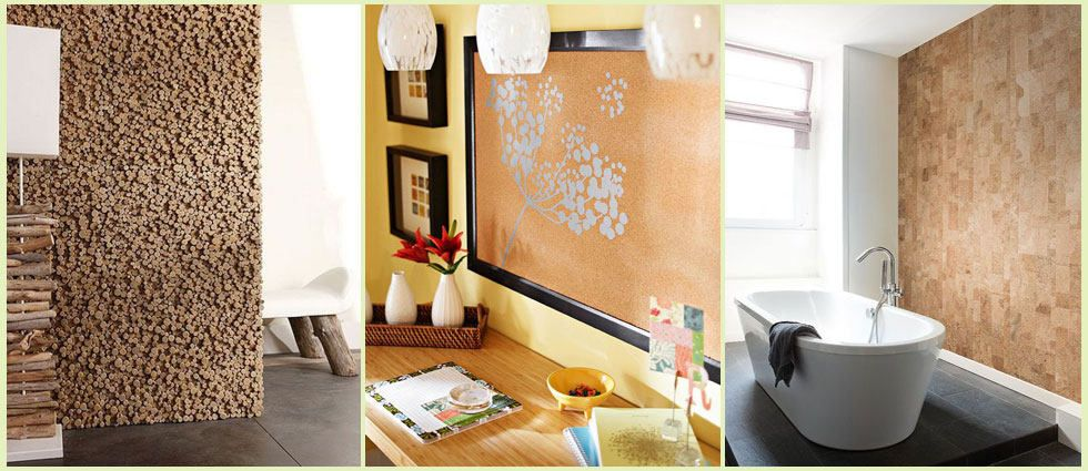 Ideas para decorar con corcho lacasadepinturas pinterest - Planchas de corcho para revestir paredes ...