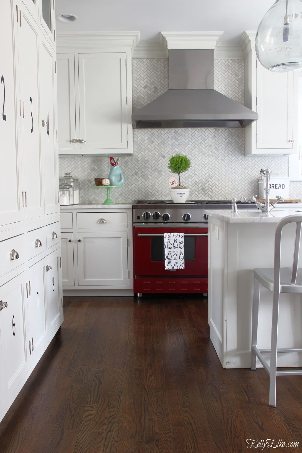 Spring Home Tour White Kitchen Decor Kitchen Decor Red And White Kitchen