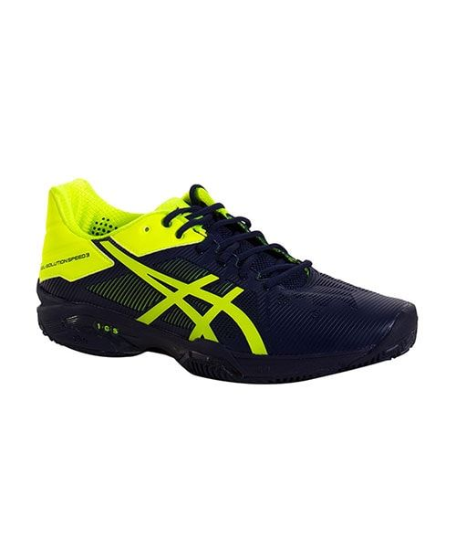 asics gel-solution speed 3 clay tennis shoes yellow