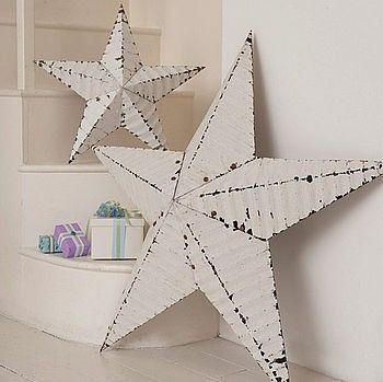 White Tin Stars For Ensuite