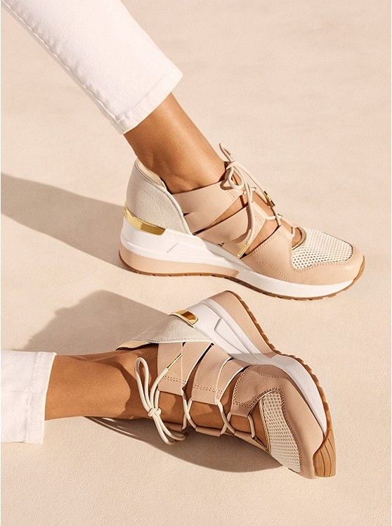 Beckett Leather and Mesh Trainer | Cute sneakers, Sneakers