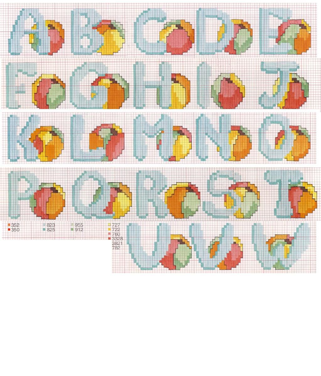 Schema 3 alfabeti punto croce alfabeto punto croce e schema for Alfabeti a punto croce per bambini