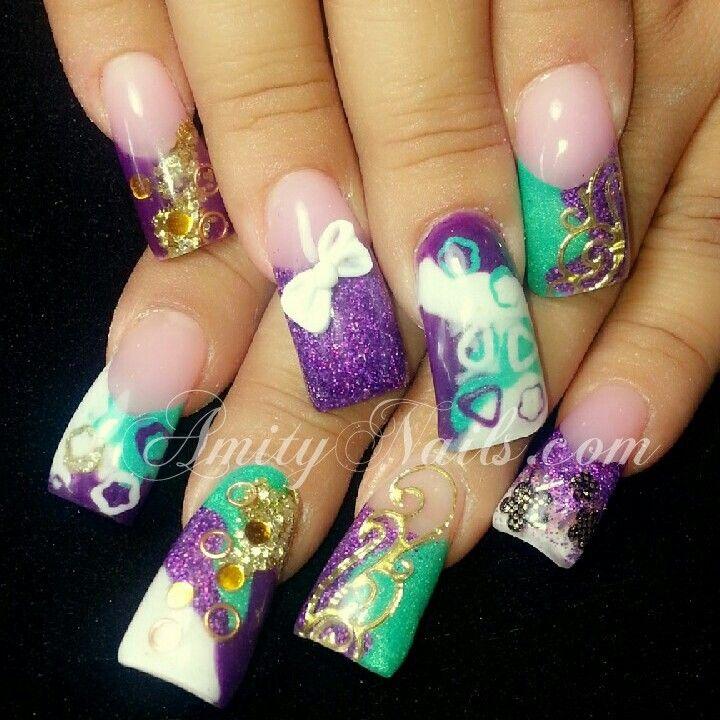 Insane purple nails