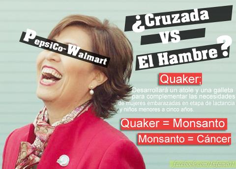 quaker-MONSANTO ayudando a matar mexicanos junto a chayotes robles