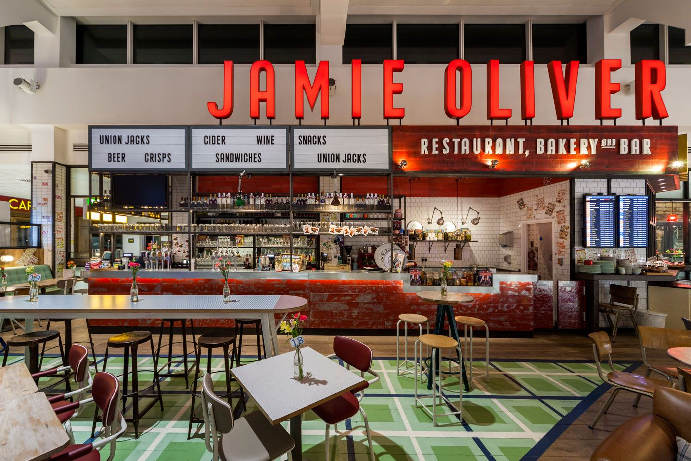 Image 6 Of 30 From Gallery 2013 Restaurant Bar Design Award Winners Jamies Italian Gatwick Airport Blacksheep