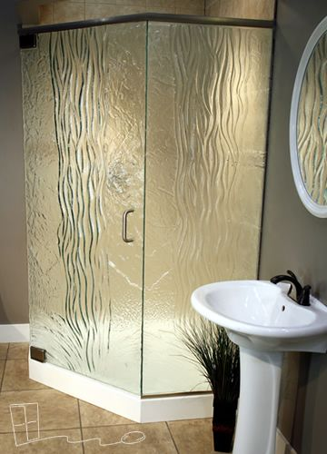 Frosted And Textured Glass Options For Shower Doors Bathroom