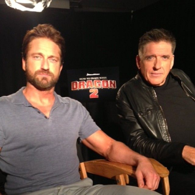 Access Hollywood @Laura Mrazek Hollywood | Websta -  #howtotrainyourdragon2 junket with Gerard Butler and Craig Ferguson! Scots in the house!
