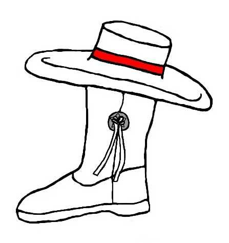 Drill Boot Homecoming Ribbon on white background