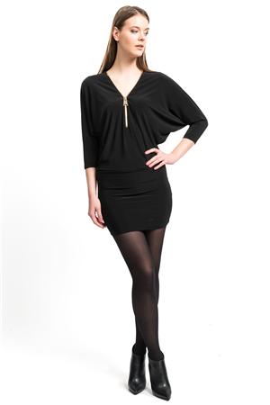 Ironi Elbise Fermuarli Sandy Siyah Elbise Elbise Siyah Kisa Elbise