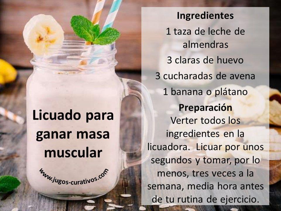 Batido Para Ganar Masa Muscular Rapido Recetas De Jugos Batidos Para Masa Muscular Licuados Nutritivos Para Desayunar