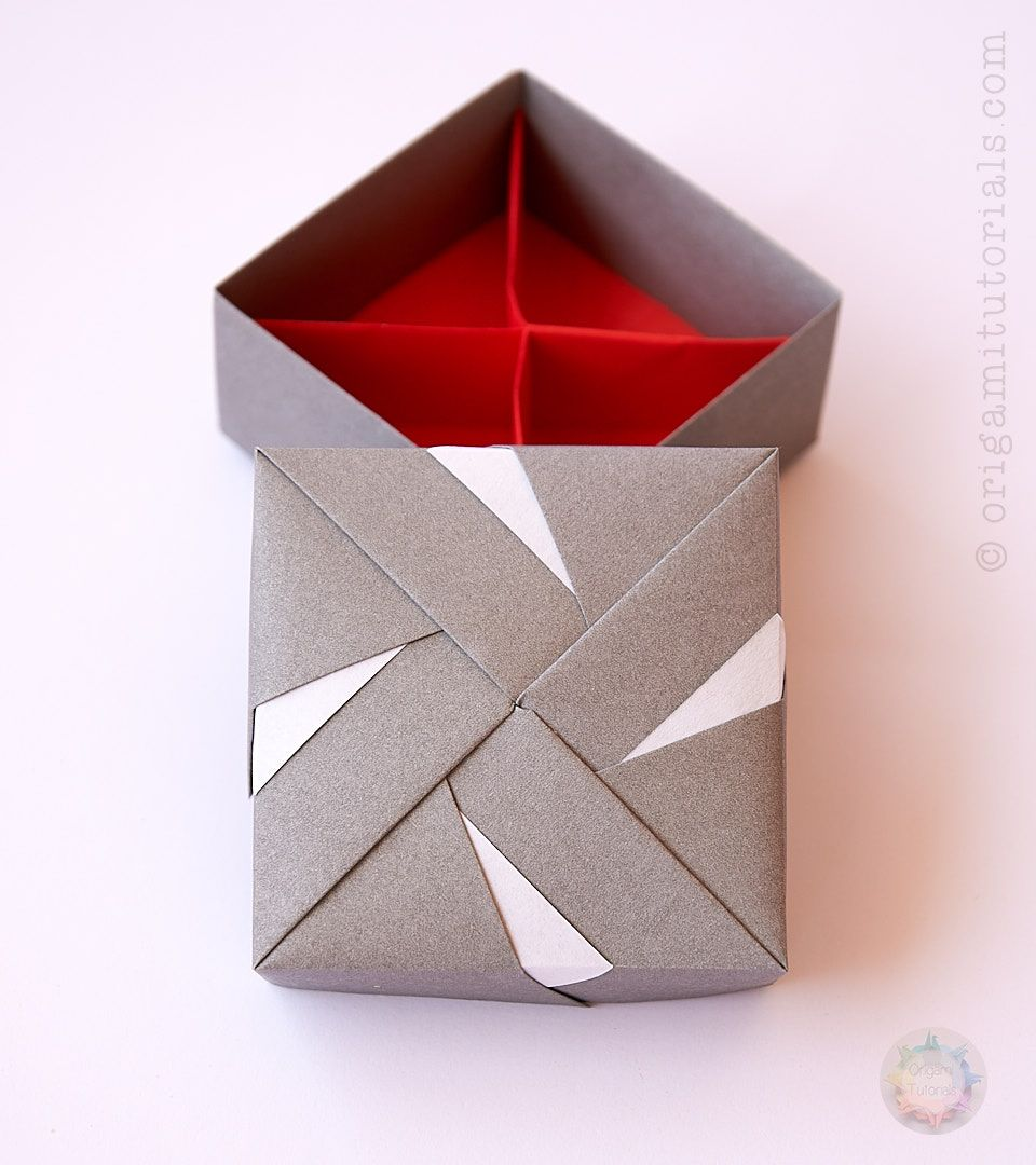 Modular Origami Box Tomoko Fuse Origami Tutorials In 2020 Modular Origami Origami Box Origami Box Tutorial