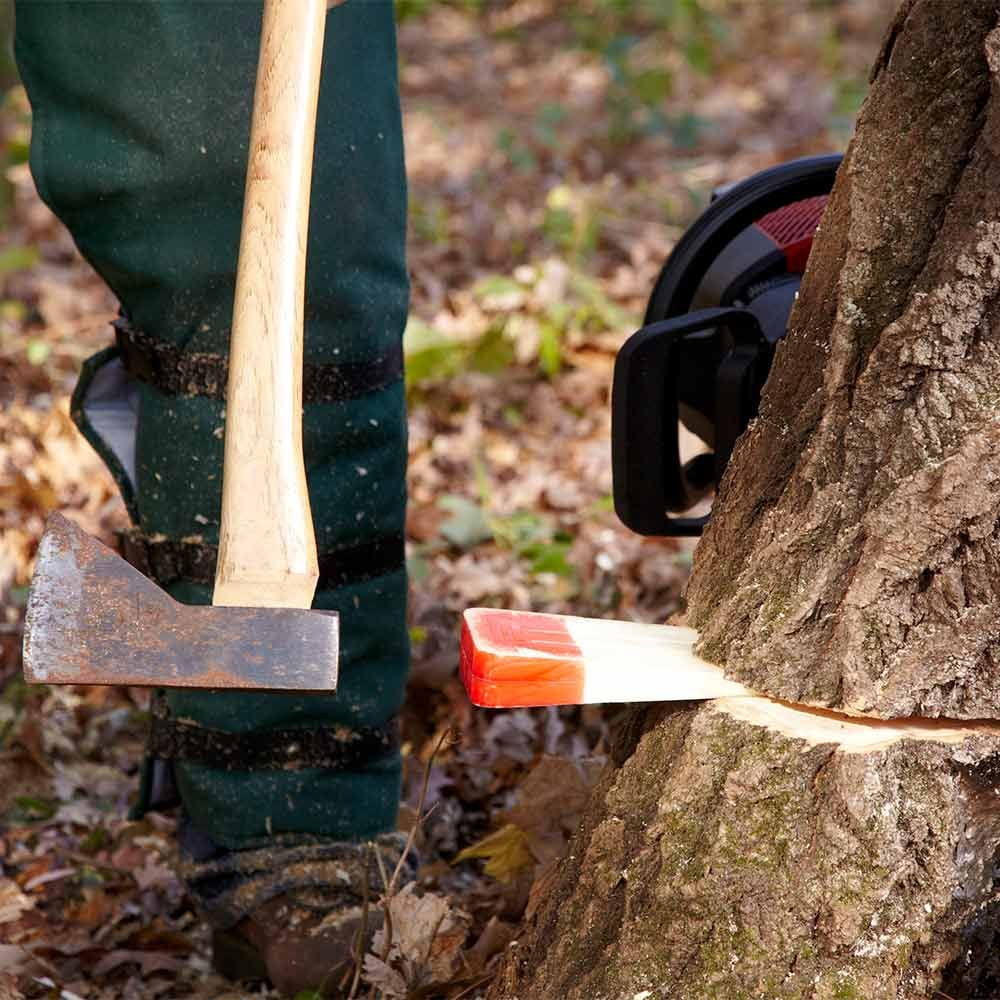 Tractor Man On Cutting Trees : Cut down a tree safely wedges chainsaw and step guide
