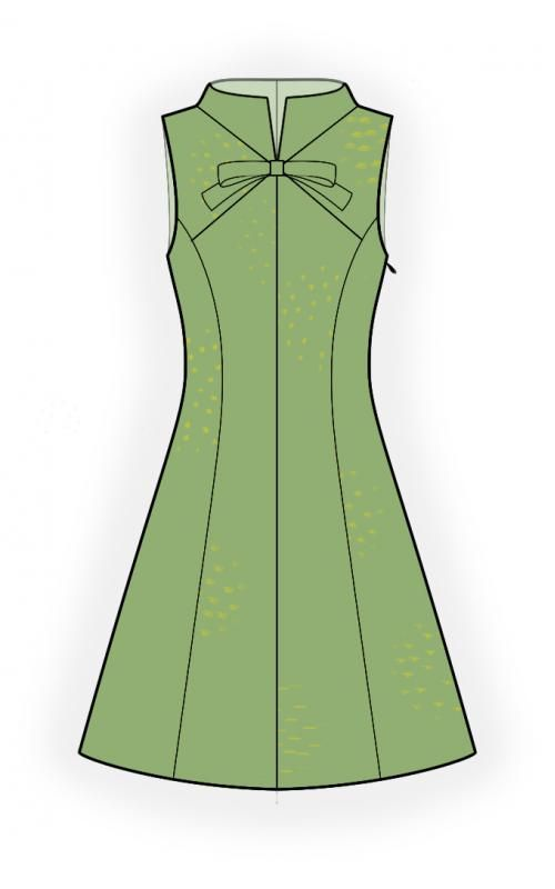 Dress With Stand Collar Sewing Pattern 4460 Made To Measure