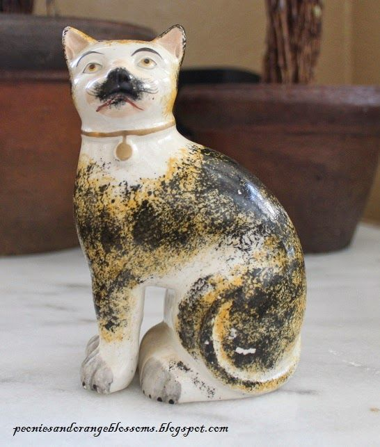 Antique Staffordshire Cats