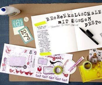 diy rezeptebuch von living at home diy pinterest b cher kochbuch und basteln. Black Bedroom Furniture Sets. Home Design Ideas