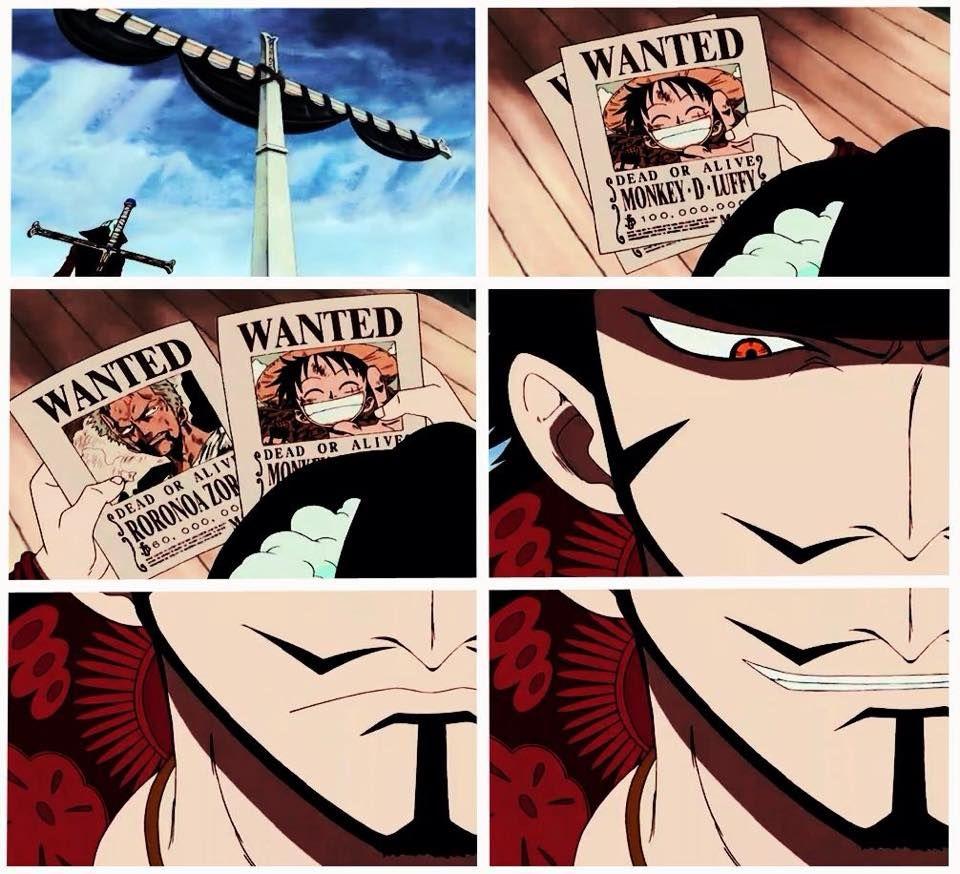 Mihawk Oh Look He Smirked Hawkeye One Piece