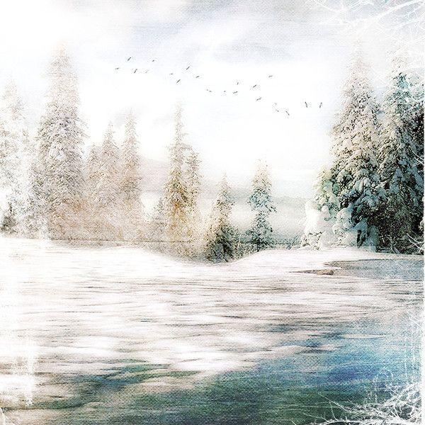 ✿Lili@ ✿ — альбом «⋱‿✿Скрап-наборы из сети⋱‿✿ / Закрытые скрапнаборы /... ❤ liked on Polyvore featuring backgrounds, winter, christmas, art and landscape