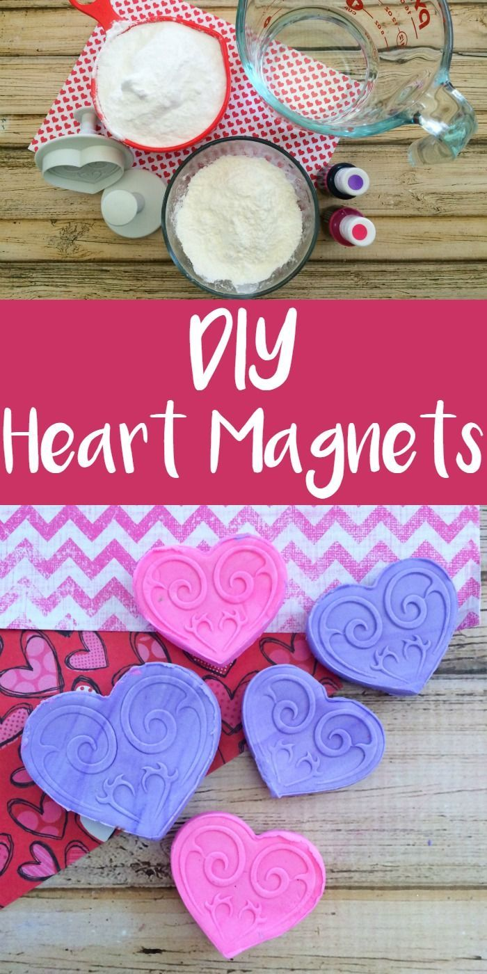 Diy Heart Magnets Are An Easy Valentine S Day Gift Or Favor