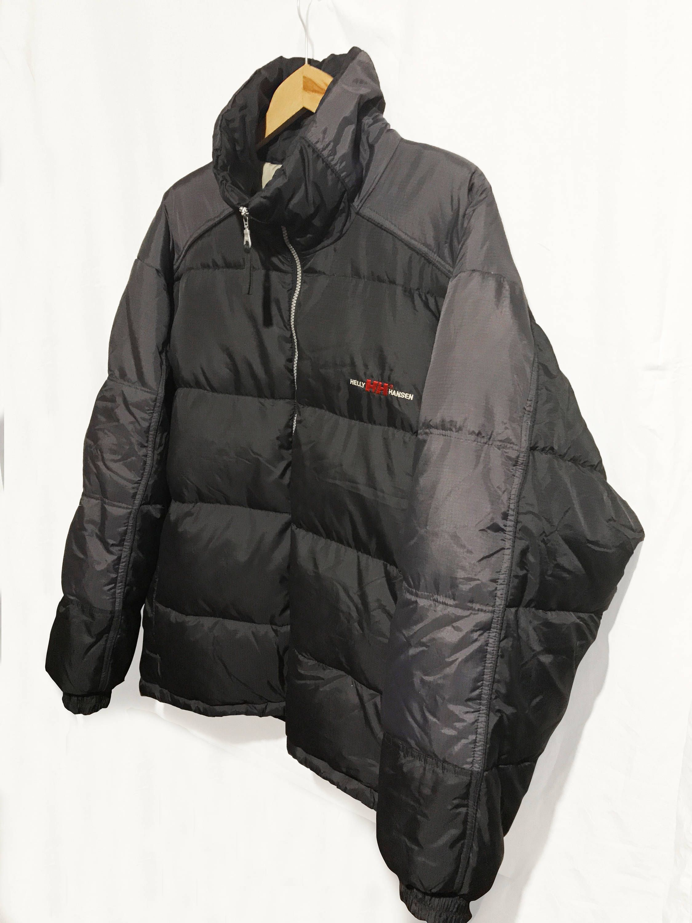 Vintage 90's Hip Hop Helly Hansen Goose Down Spell out Big