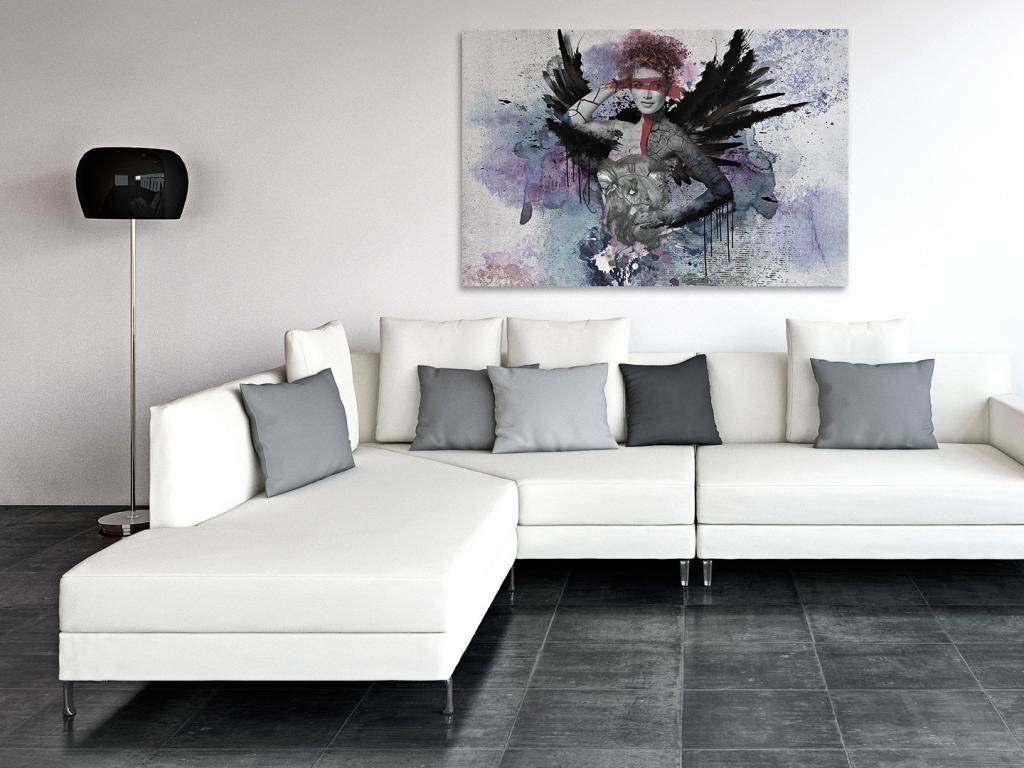 22801 Obraz Na Plotnie Postac Skrzydla 120x80 5903815713 Oficjalne Archiwum Allegro Home Decor Decor Sectional Couch